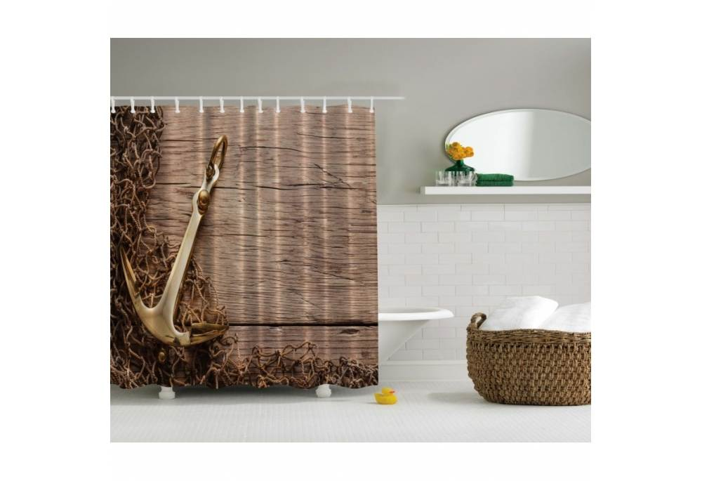 Cross shower curtain hooks