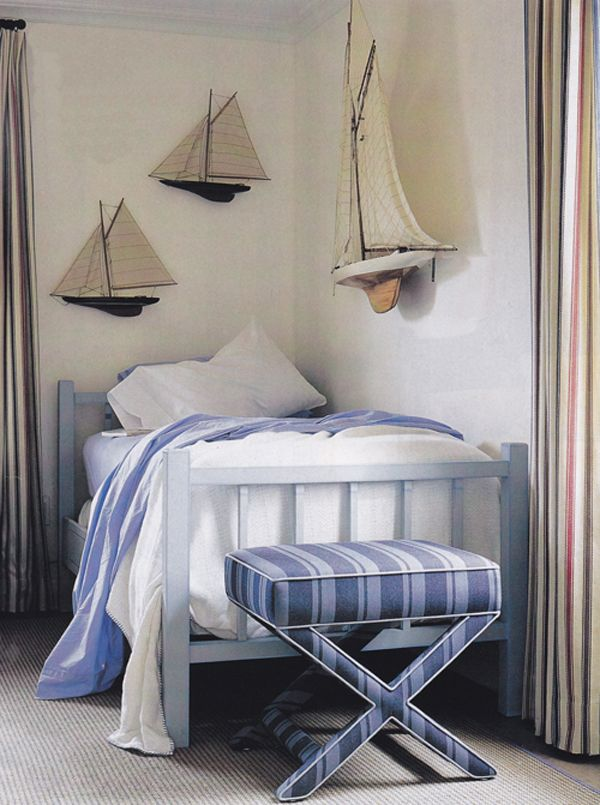 Nautical kids room design interior decorating for Boys nautical bedroom ideas