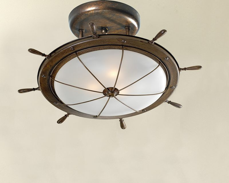 Ship Wheel Lighting Fixture