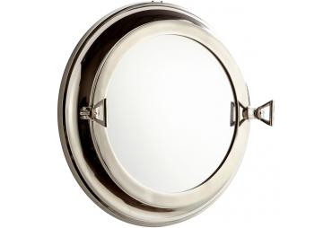 """Nickel Porthole Mirror 21"""""""