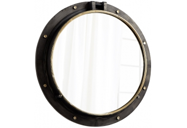 """29.5"""" Canyon Bronze and Gold Pothole Mirror"""