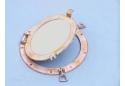 "Rustic White Decorative Ships Porthole Mirror 12"""