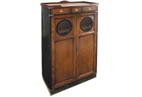 Nautical Inspired Porthole Bar Cabinet