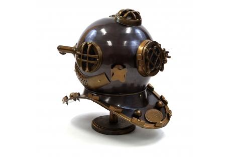2 Tone Antique Replica Divers Helmet Mark V