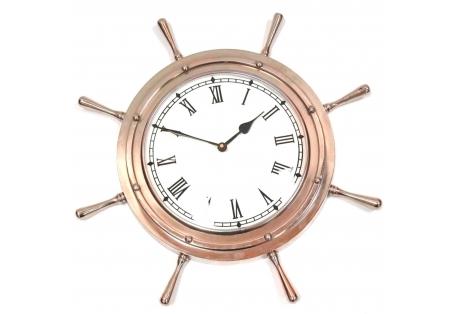 """Aluminum Ship Wheel Clock 18"""""""