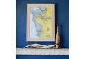Anna Maria Island Bradenton, FL Framed Map