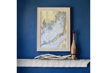 Buzzards Bay Framed Map