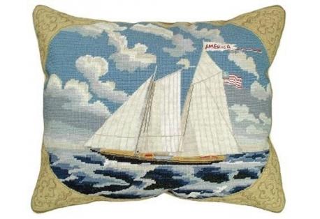 michaelian home Needlepoint Pillow 100% Wool Handmade