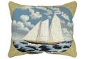 Schooner America Needlepoint Pillow 100% Wool
