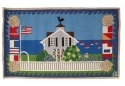 Beach House Nautical Themed Hooked Rug
