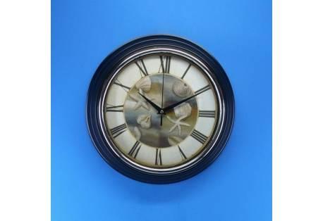 Seashell wall clock 12 gonautical for Seashell wall clock