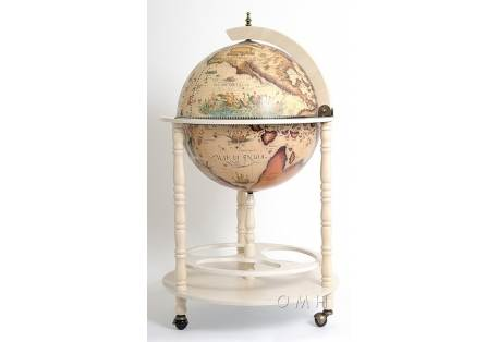White Italian Renaissance Old World Globe