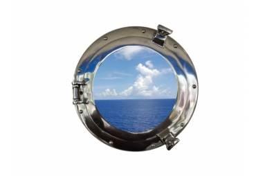 "Deluxe Class Chrome Porthole Window 12"""