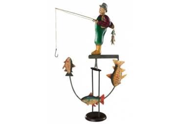Fly Fisherman & Fish Sky Hook