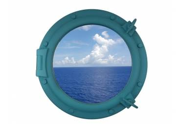 "Light Blue Porthole Window 20"""