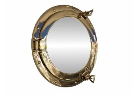 "Decorative Brass Porthole Mirror 12"""