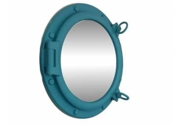 "Light Blue Porthole Mirror 20"""