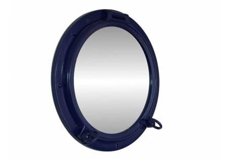 """Navy Blue Porthole Mirror 15"""""""