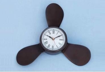 "Decorative Antique Copper Ships Propeller Clock 18"""