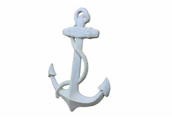 Antique White Cast Iron Anchor 17 Quot Gonautical