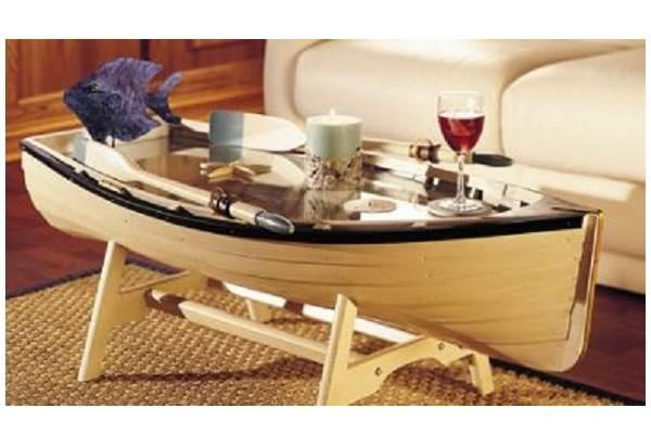 Row Boat Book Case Shelf