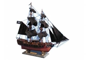 "Caribbean Pirate Ship 26"" Black Sails"