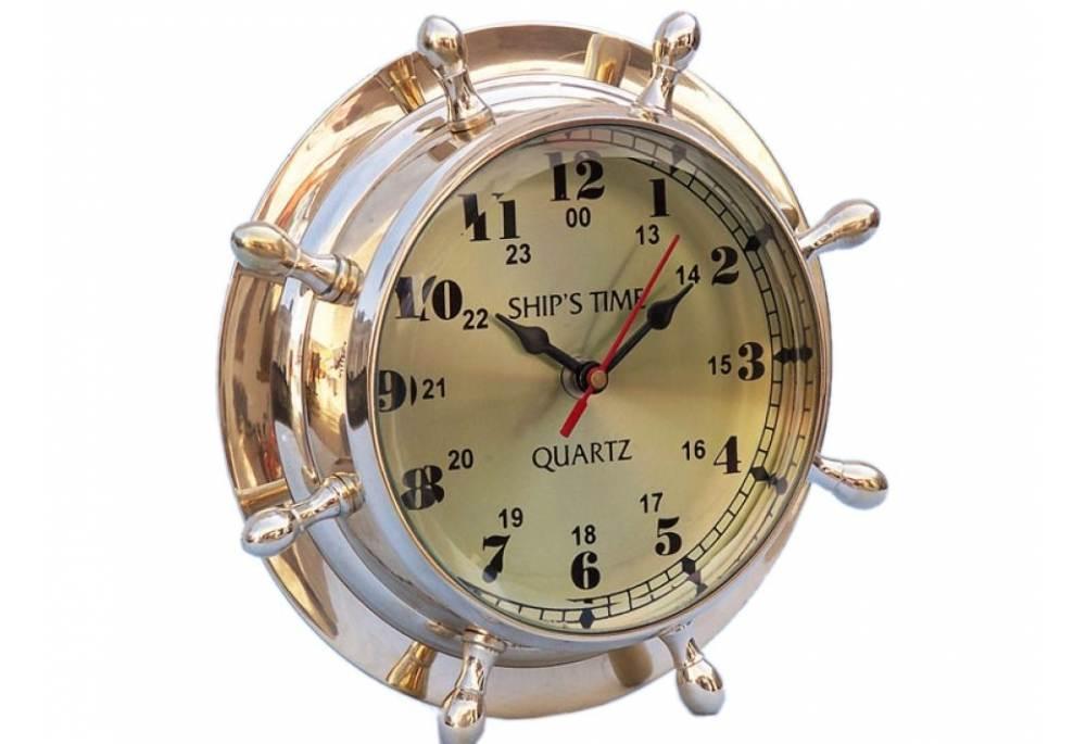 Double Dial Wheel Clock 8 Quot Gonautical