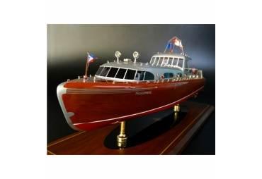 "Hacker Craft 55 ""Thunderbird"" Classic Speed Boat Model"
