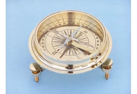 """Brass Desktop Compass 5"""""""