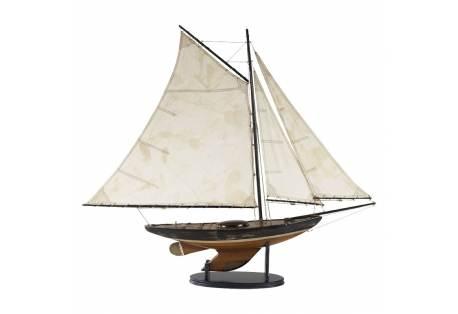 Yacht Decor, Decorative Boat Model, Decoration, Sailboat, Sailing Wooden Boat, Nautical