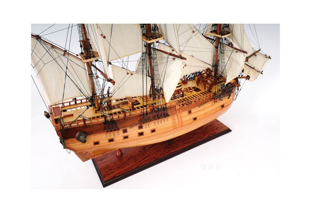 Hms Endeavour Open Hull Wooden Tall Ship Model 37