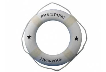 "RMS Titanic Decorative Lifering 30"" - White"
