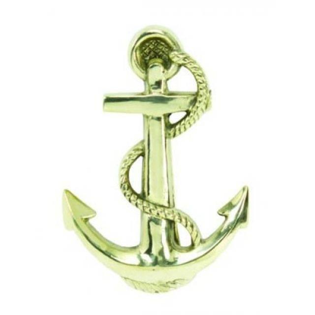 Solid Brass Anchor Door Knocker 6\