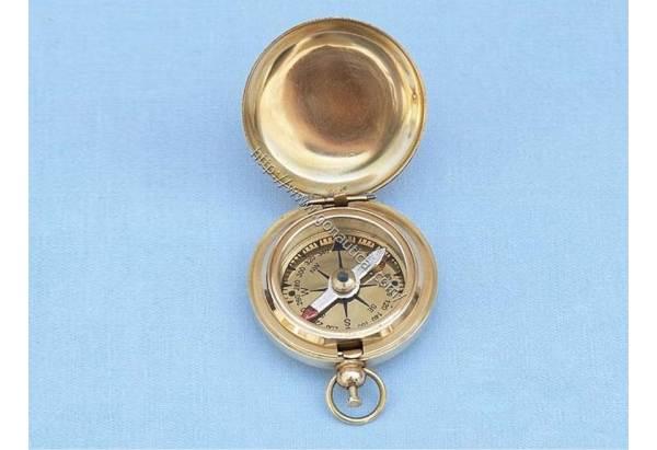 Brass Push Button Compass 2 Quot Gonautical