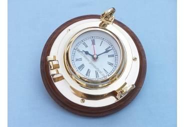 "Brass Porthole Clock 7"""