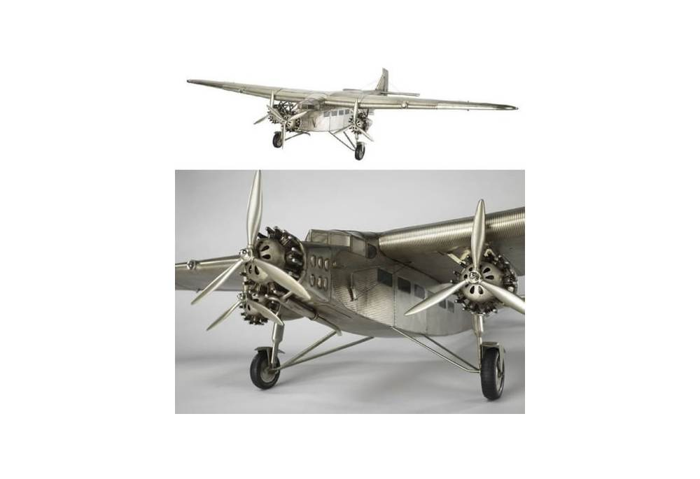 Aviation Decoration Tin Goose Ford Trimotor Airplane Model