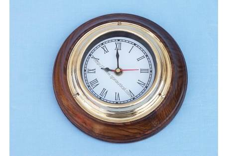 """Clock on wood base 7"""""""