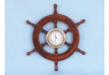 """Ships Wheel Clock 12"""""""