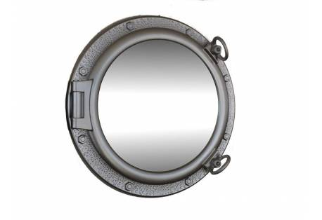 """Silver Finish Porthole Mirror 20"""""""