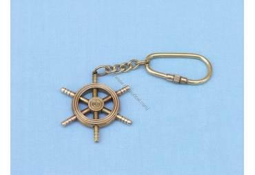 Small Ship Wheel Key Chain