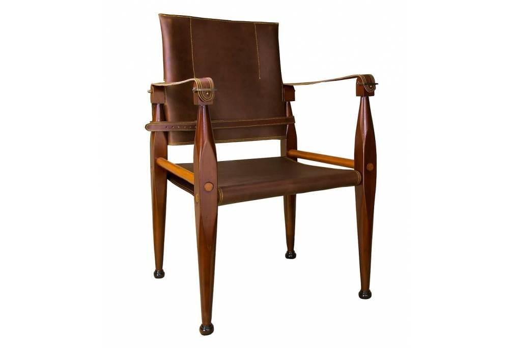Bridal Safari Leather Campaign Chair