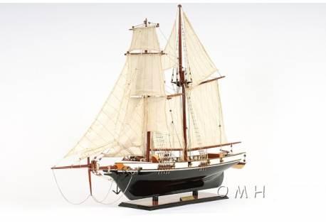Historic Wooden Ship Decor of 1800's Baltimore Clipper Harvey