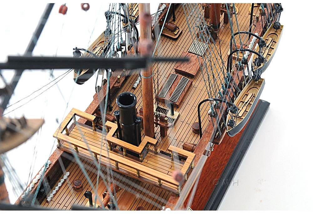 Css Alabama Handcradted Historic Wooden Tall Ship Model