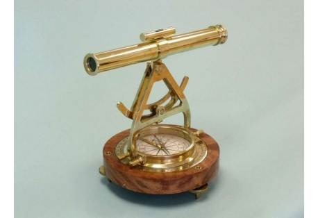 "Brass Alidade Compass 14"""