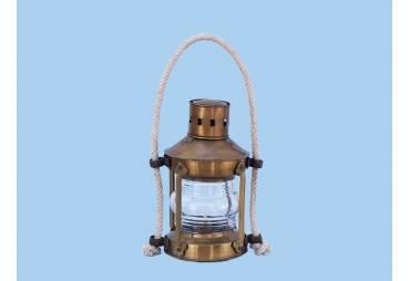 """Brass Round Anchor Lantern 16"""""""
