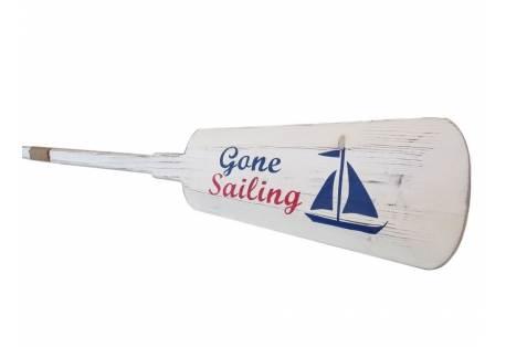 "Wooden Rustic Gone Sailing Decorative Rowing Boat Oar 62"""