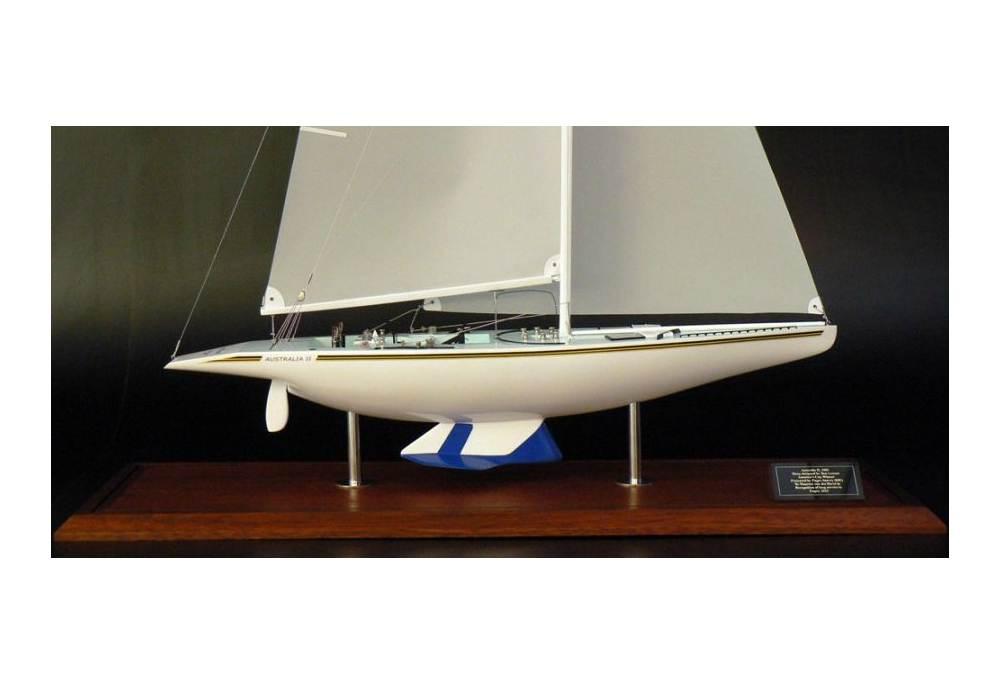America S Cup Winner Australia Ii 1983 Sailboat Scaled Model