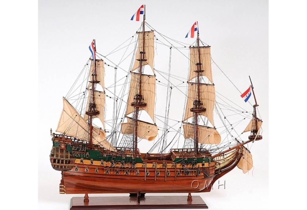 Friesland Wooden Ship Model Tall Ship Frigate Decor