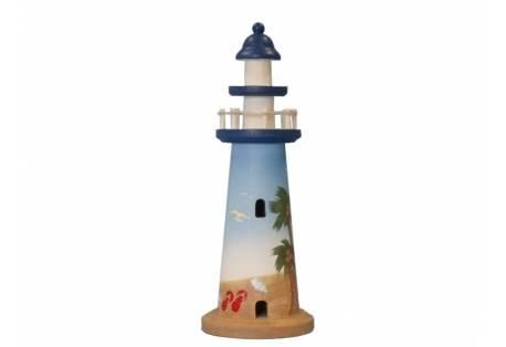 """Wooden Palm Beach Lighthouse 12"""""""