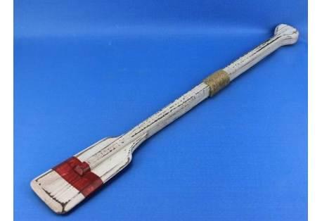 """Wooden Rustic Red Stripe Oar w/ Hooks 36"""""""